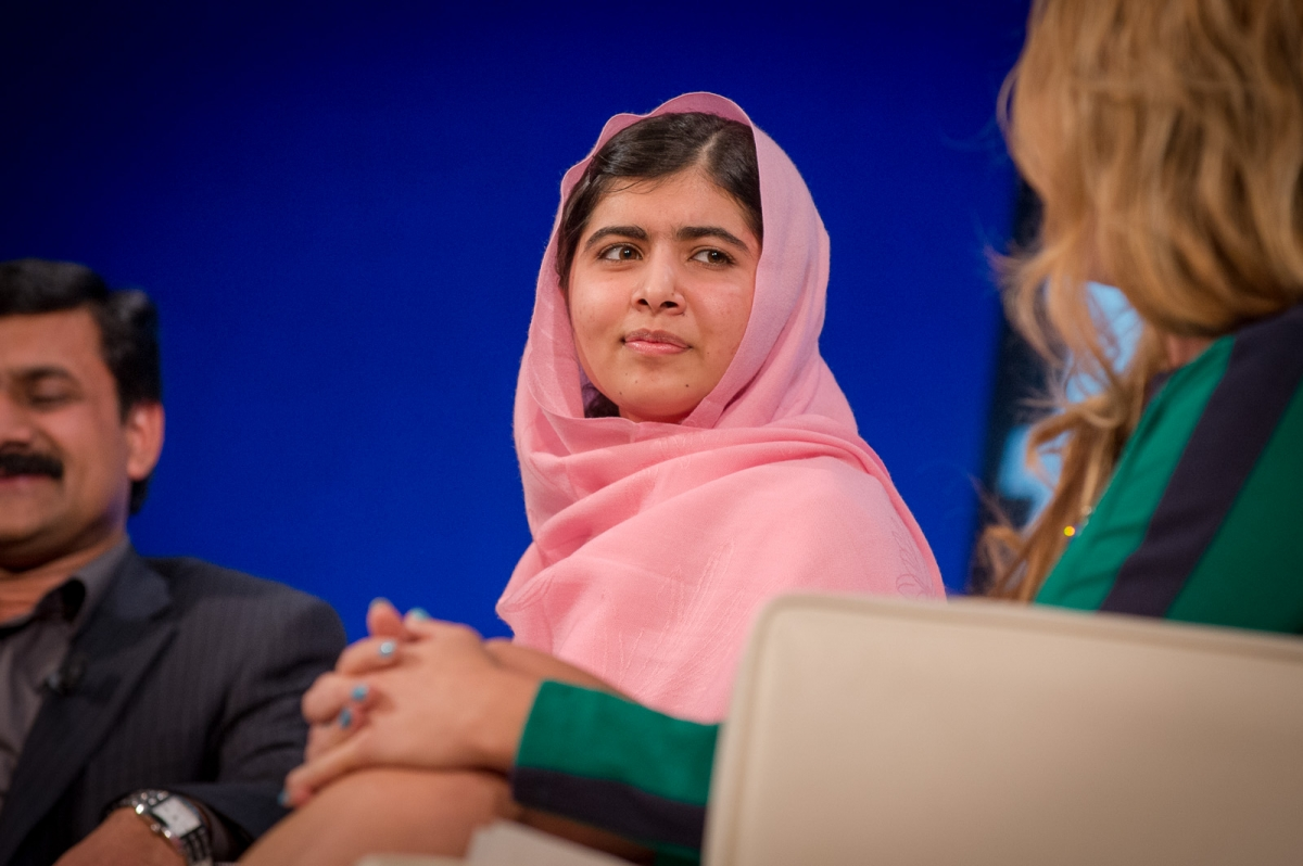 Nobel Peace Prize Candidate Malala Yousafzai at 92nd Street Y for the UN Foundations Social Good Summit.