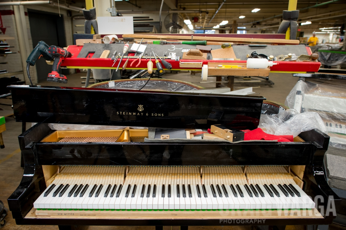 Inside the Steinway & Sons Piano Factory, Astoria, Queens